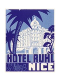 Hotel Ruhl Nice Luggage Label