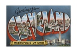Greetings from Cleveland Postcard