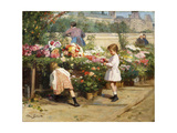 The Flower Market by the Seine by Victor Gabriel Gilbert