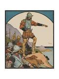 Illustration of Vasco Nunez De Balboa Discovering the Pacific Ocean