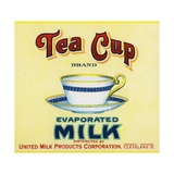 Tea Cup Brand Evaporated Milk Product Label