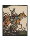 Illustration of Francisco Pizarro on Horseback
