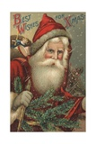 Best Wishes for Xmas Postcard Giclée