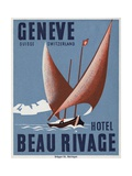 Beau Rivage Hotel Geneve Luggage Label
