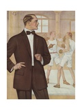 Royal Tailors Illustration of Man in Suit at Boxing Gym
