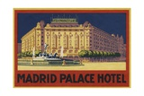 Madrid Palace Hotel Luggage Label