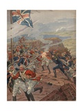 Illustration of Napoleon Leading the Attack at Toulon
