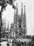 The Cathedral of the Sagrada Familia in Barcelona  1939