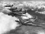 Hawker Hurricanes in Flight