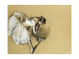 Dancer Adjusting Her Shoe