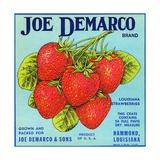 Joe Demarco Brand Fruit Crate Label