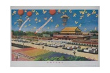 Military Rocket Parade in Tienanmen Square  1987 Chinese Propaganda