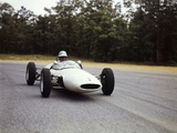 1960s Man Race Car Driver Driving Lotus Ford Sports Car