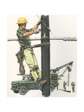 Illustration of Telephone Man