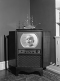 1940s-1950s Console Black and White Television Set