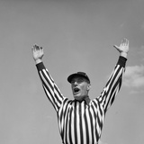 1950s Football Referee Making Touchdown Signal
