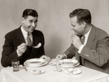 1930s Two Men Dining Eating Soup