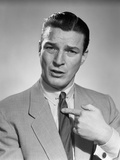 1950s Businessman Serious Expression Pointing to His Chest Confused