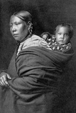 Mère et enfant Papier Photo par Edward S. Curtis