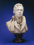 A Painted Plaster Bust of Robert Fulton