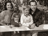 1950s Family Outside Mother Father Son Daughter