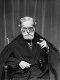 1930s Stern Elderly Judge with Beard and Glasses Pointing at Camera