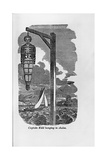 """Engraving of """"Captain Kidd Hanging in Chains"""""""