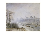 The Louvre and the Seine from the Pont Neuf - Morning Mist