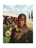 Illustration of Charles Lindbergh
