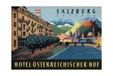 Hotel Osterreichischer Salzburg Luggage Label