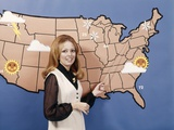 1970s Woman Weather Girl Meteorology Meteorologist Television News