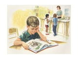 Illustration of Children at Library