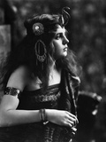 1910s-1920s Woman in Egyptian Costume Wearing Jeweled Arm Cuff and Ornate Head Piece