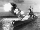 USS Missouri Firing its Guns