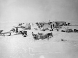 Shackleton's Base Camp on the Ross Ice Shelf Papier Photo