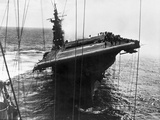 Damaged US Aircraft Carrier Franklin