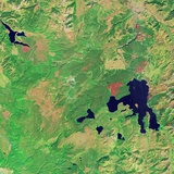 Satellite View of Yellowstone National Park