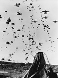Troops Parachuting into Korea