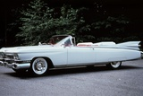 1959 White Cadillac Eldorado Biarritz Convertible Automobile Side View