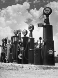 1920s-1930s Line of Gasoline Pumps
