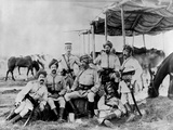 Indian British Army Officers at Sudan