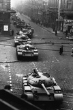 Russian Tanks on Budapest Street in 1956