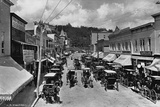 Horse-Drawn Carriages and Storefronts on Mackinac Island