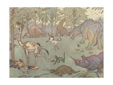 Illustration of the Golden Age of Mammals