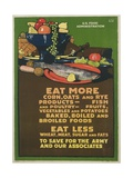 Eat More Corn  Oats and Rye Poster