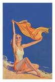 Sunshine - Pin Up Glamour Girl - Originally Painted for Cover of July 1931 College Humor Magazine