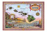 Map of Old Hawaii - The Islands of Hawaii