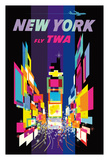 New York - Times Square - Trans World Airlines Fly TWA