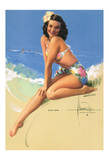 Hawaiian Pin Up Girl - Model was Elsa Kanionapua Edsman  1952 Miss Universe 1st Runner Up