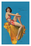 O Kay! - Hawaiian Pin Up Glamour Girl - 1937 Brown & Bigelow Calendar